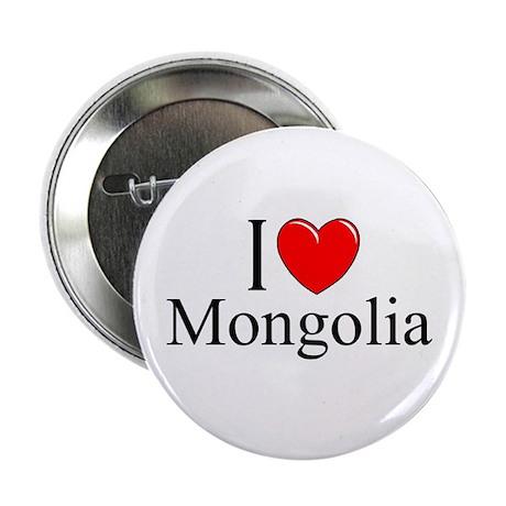 """I Love Mongolia"" Button"