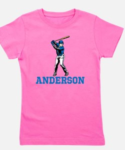 Personalized Baseball Girl's Tee