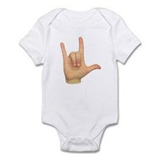 ASL I Love You Hand Infant Bodysuit