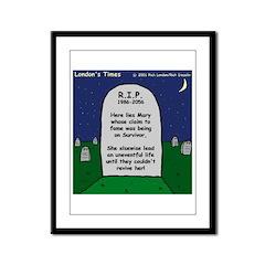 RIP Mary Framed Panel Print