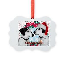 arnie meets santa 2 copy Ornament