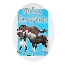 Caballo and Cisco Christmas Card Oval Ornament