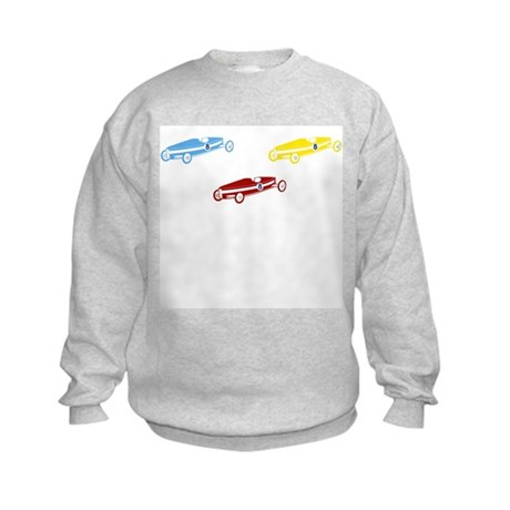 3 Box Cars blue red yellow Kids Sweatshirt
