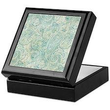 iPad-Jade Paisley Keepsake Box