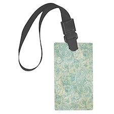 iPad-Jade Paisley Luggage Tag