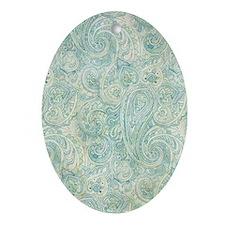 iPad-Jade Paisley Oval Ornament