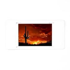 Saguaro Sunset-2 Aluminum License Plate