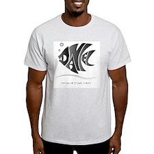 Daniel black fish Ash Grey T-Shirt