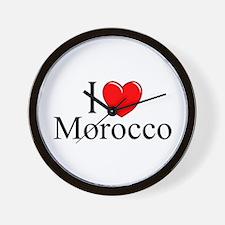 """""""I Love Morocco"""" Wall Clock"""