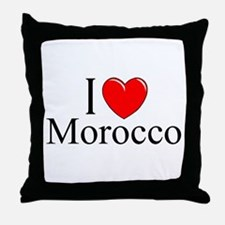 """I Love Morocco"" Throw Pillow"