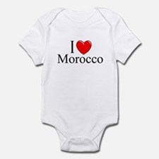 """I Love Morocco"" Infant Bodysuit"
