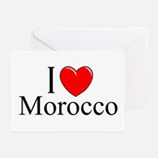"""""""I Love Morocco"""" Greeting Cards (Pk of 10)"""