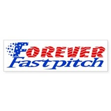 Forever Fastpitch Logo alone big Bumper Sticker