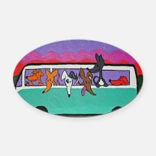 GoGreyhound Oval Car Magnet