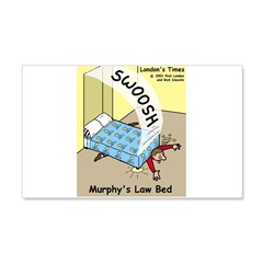 Murphys Law Bed 20x12 Wall Decal