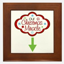 our christmas miracle Framed Tile