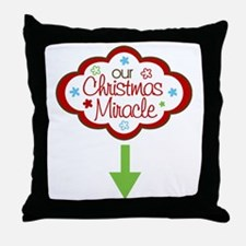 our christmas miracle Throw Pillow
