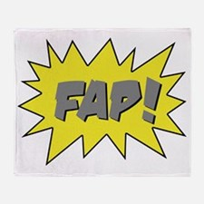 FAP-gray50-stroke Throw Blanket
