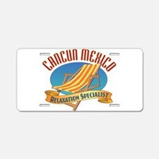 Cancun Relax - Aluminum License Plate