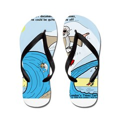 Moses Showing Off Flip Flops