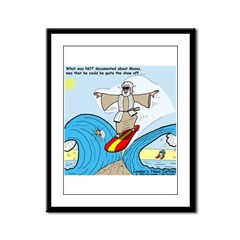 Moses Showing Off Framed Panel Print
