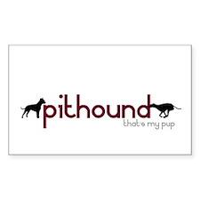 """PitHound"" Rectangle Decal"