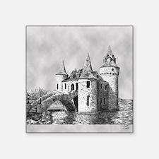 """boldt castle tile box Square Sticker 3"""" x 3"""""""