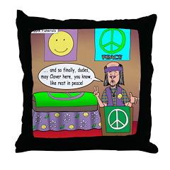 Hippie Funeral Throw Pillow