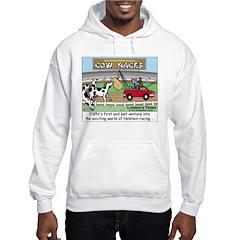 Cow Races Hooded Sweatshirt