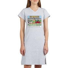 Cow Races Women's Nightshirt