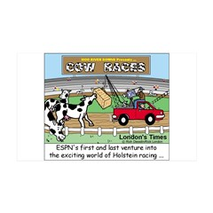 Cow Races Wall Decal