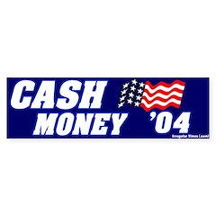 Mocking Cash Money Bumper Bumper Sticker
