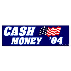 Mocking Cash Money Bumper Bumper Sticker