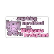 1elephant Aluminum License Plate