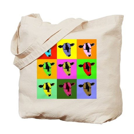 Cow Warhol style Tote Bag