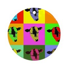 Cow Warhol style Ornament (Round)