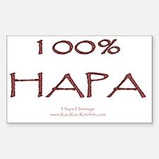 100% Hapa Sticker (Rectangle)