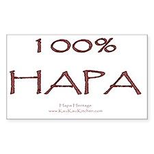 100% Hapa Stickers