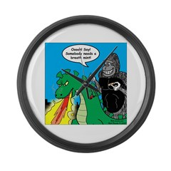 Godzilla Breath Mint Large Wall Clock