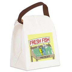 Fresh Fish Canvas Lunch Bag