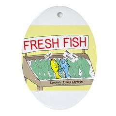 Fresh Fish Ornament (Oval)