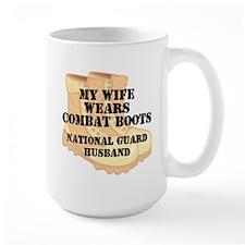 National Guard Husband Desert Combat Boots Mugs