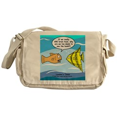 Fish Brain Food Messenger Bag