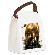 (14) Pig Profile  1966 Canvas Lunch Bag