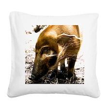 (14) Pig Profile  1966 Square Canvas Pillow