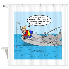 Fishing Luck Shower Curtain