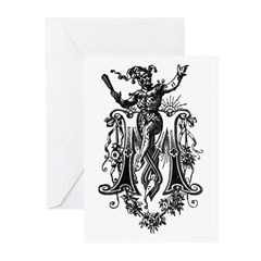 Letter M Greeting Cards (Pk of 10)