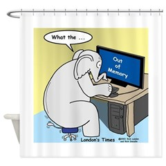 Elephant Memory Shower Curtain