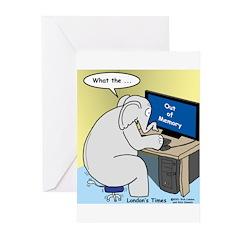 Elephant Memory Greeting Cards (Pk of 10)