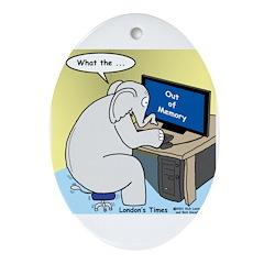 Elephant Memory Ornament (Oval)